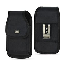 PH02B-583207BK-FOR SAMS4PL/I9300PL - Reiko Vertical Rugged Pouch In Black Velcro Closure With Cardboard Packaging