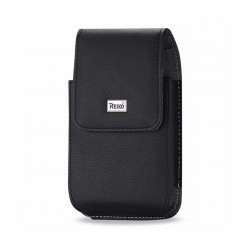 VP385B-583207BK - FOR SAMS4PL/I9300PL - Reiko Leather Vertical Pouch With Metal Logo In Black