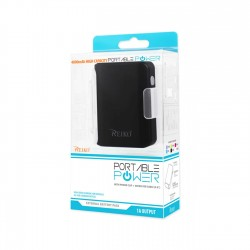 REIKO 4000MAH UNIVERSAL POWER BANK WITH CABLE IN BLACK