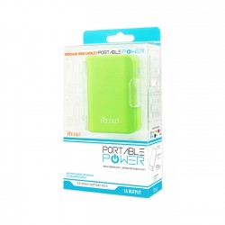 REIKO 4000MAH UNIVERSAL POWER BANK WITH CABLE IN GREEN