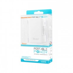 REIKO 4000MAH UNIVERSAL POWER BANK WITH CABLE IN WHITE
