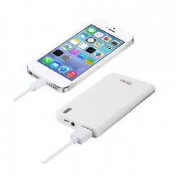 REIKO 5000MAH UNIVERSAL POWER  BANK WITH LED LIGHT IN WHITE