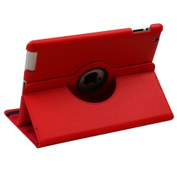 For iPad - 2/3/4 - Red Premium Rotatable MyJacket (441) (No Package)