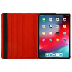 For iPad Pro 11(2018)- MYBAT Red Premium Rotatable MyJacket (441) -WP