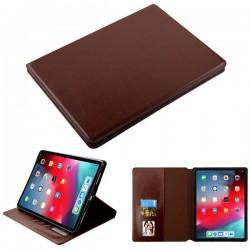For iPad Pro 11(2018) - MYBAT Brown MyJacket Wallet(with Tray)(562) -WP