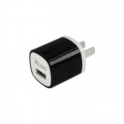 TC200-1A5VBK - REIKO 1 AMP WALL USB TRAVEL ADAPTER CHARGER IN BLACK
