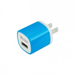 TC200-1A5VBL - REIKO 1 AMP WALL USB TRAVEL ADAPTER CHARGER IN BLUE