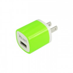TC200-1A5VGR - REIKO 1 AMP WALL USB TRAVEL ADAPTER CHARGER IN GREEN