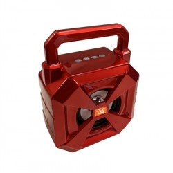 Portable Bluetooth Speaker with handle Loud Sound Heavy Bass Outdoor in Red