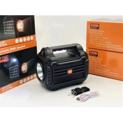 Portable Bluetooth Speaker with handle Loud Sound Heavy Bass Outdoor Solar Charging in Black