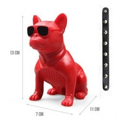 M12-DOG-SMALL SIZE BLUETOOTH WIRELESS SPEAKERS-RED
