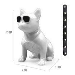 M12-DOG-SMALL SIZE BLUETOOTH WIRELESS SPEAKERS - WHITE