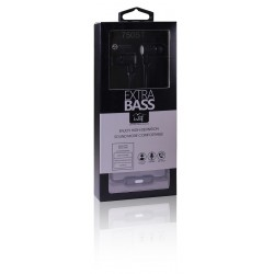 Universal 3.5mm Stereo Hands Free w/Extra Bass 750ST Black