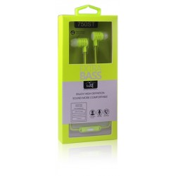 Universal 3.5mm Stereo Hands Free w/Extra Bass 750ST Green
