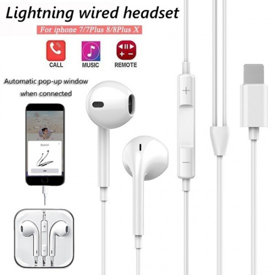 POP - UP WINDOW LIGHTNING HEADSET ( For iPhone 7/8/X/XS/MAX/XR)